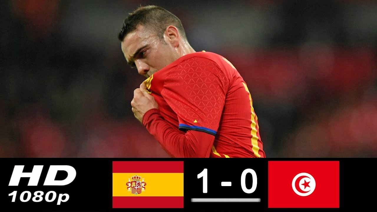 Spain 1-0 Tunisia